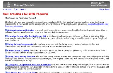 http://download.oracle.com/javase/tutorial/uiswing/
