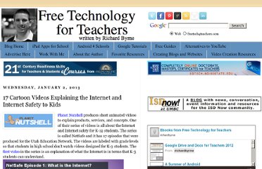 http://www.freetech4teachers.com/2013/01/17-cartoon-videos-explaining-internet.html#