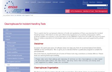 http://www.enisa.europa.eu/activities/cert/support/chiht