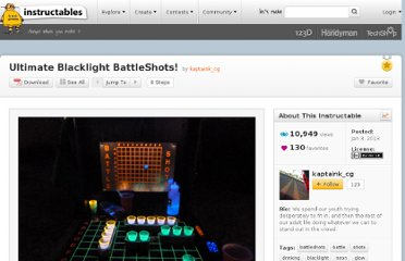 http://www.instructables.com/id/Ultimate-Blacklight-BattleShots/