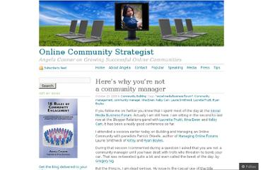 http://blog.angelaconnor.com/2009/10/23/heres-why-youre-not-a-community-manager/