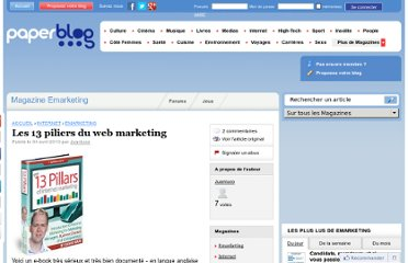 http://www.paperblog.fr/3049751/les-13-piliers-du-web-marketing/