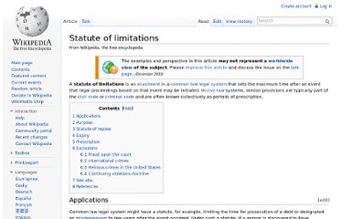 http://en.wikipedia.org/wiki/Statute_of_limitations