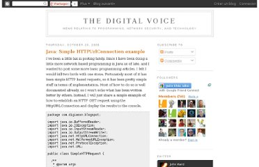http://digiassn.blogspot.com/2008/10/java-simple-httpurlconnection-example.html