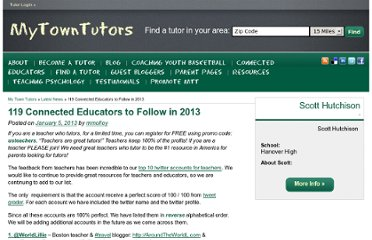 http://www.mytowntutors.com/2013/01/119-connected-educators-to-follow-in-2013/