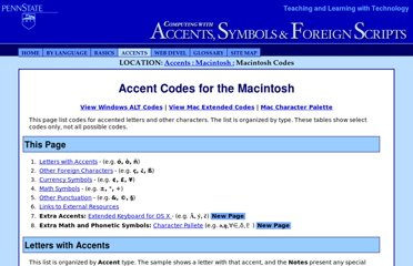http://symbolcodes.tlt.psu.edu/accents/codemac.html
