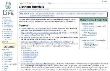 http://wiki.secondlife.com/wiki/Clothing_Tutorials