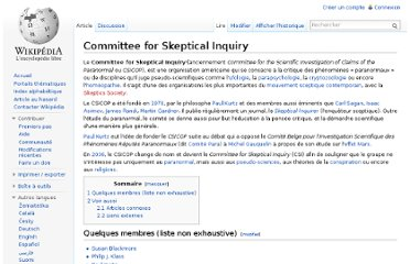 http://fr.wikipedia.org/wiki/Committee_for_Skeptical_Inquiry