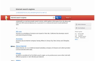 http://duckduckgo.com/1/c/Internet_search_engines#9