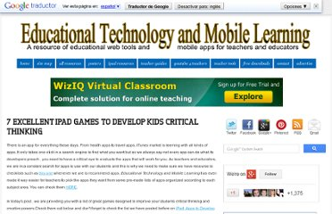 http://www.educatorstechnology.com/2013/01/7-excellent-ipad-games-to-develop-kids.html