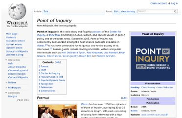 http://en.wikipedia.org/wiki/Point_of_Inquiry