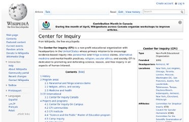 http://en.wikipedia.org/wiki/Center_for_Inquiry