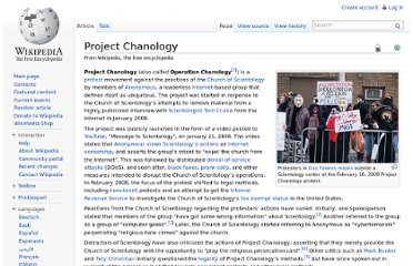 http://en.wikipedia.org/wiki/Project_Chanology