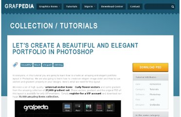 http://grafpedia.com/tutorials/create-beautiful-elegant-portfolio-photoshop