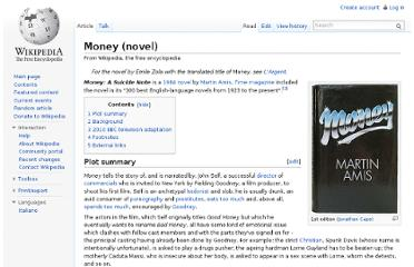 http://en.wikipedia.org/wiki/Money_(novel)