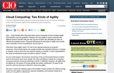 http://www.cio.com/article/599626/Cloud_Computing_Two_Kinds_of_Agility