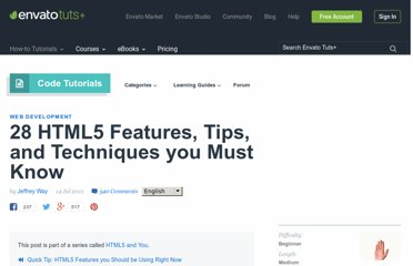 http://net.tutsplus.com/tutorials/html-css-techniques/25-html5-features-tips-and-techniques-you-must-know/