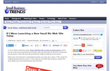 http://smallbiztrends.com/2009/05/launching-small-biz-web-site.html