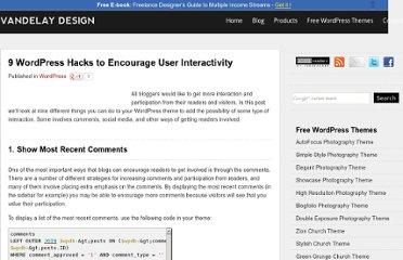 http://vandelaydesign.com/blog/wordpress/hacks-user-interactivity/
