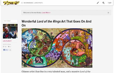 http://kotaku.com/5973639/wonderful-lord-of-the-rings-art-that-goes-on-and-on