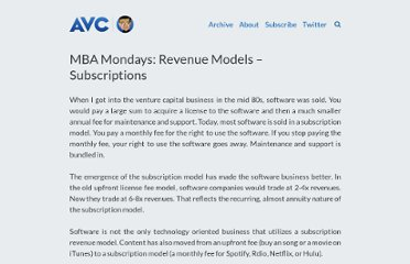 http://www.avc.com/a_vc/2013/01/mba-mondays-revenue-models-subscriptions.html