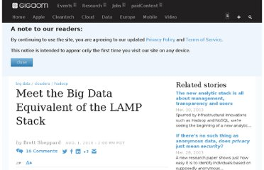 http://gigaom.com/2010/08/01/meet-big-data-equivalent-of-the-lamp-stack/