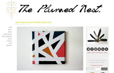 http://www.theplumednest.com/2012/08/make-graphic-canvas-painting-using-tape.html