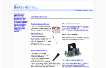 http://www.hobby-hour.com/electronics/hobby_projects.php