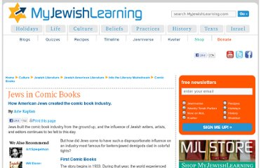 http://www.myjewishlearning.com/culture/2/Literature/Jewish_American_Literature/Into_the_Literary_Mainstream/Comic_Books.shtml