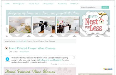 http://howtonestforless.com/2012/06/07/painted-flower-wine-glasses/