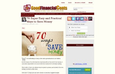 http://www.goodfinancialcents.com/ways-to-save-money/