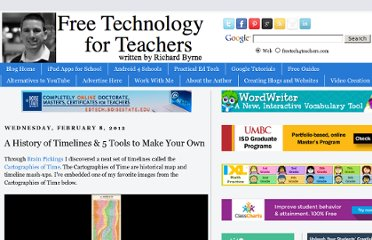 http://www.freetech4teachers.com/2012/02/history-of-timelines-and-5-tools-to.html#.UOtPZ4njlws