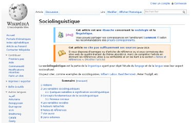 http://fr.wikipedia.org/wiki/Sociolinguistique