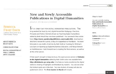 http://rebeccafrostdavis.wordpress.com/2013/01/04/new-and-newly-accessible-publications-in-digital-humanities/