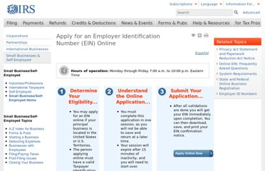 http://www.irs.gov/Businesses/Small-Businesses-&-Self-Employed/Apply-for-an-Employer-Identification-Number-(EIN)-Online