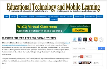 http://www.educatorstechnology.com/2013/01/16-excellent-ipad-apps-for-social.html