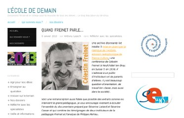 http://ecolededemain.wordpress.com/2013/01/09/quand-freinet-parle/#more-2609