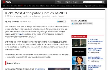 http://uk.ign.com/articles/2013/01/09/igns-most-anticipated-comics-of-2013