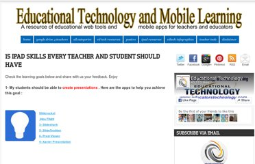 http://www.educatorstechnology.com/2013/01/15-ipad-skills-students-must-have.html