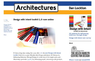 http://architectures.danlockton.co.uk/2010/04/10/design-with-intent-toolkit-1-0-now-online/