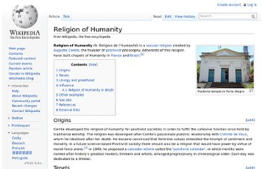 http://en.wikipedia.org/wiki/Religion_of_Humanity