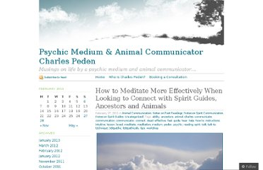 http://charlespeden.wordpress.com/2011/02/27/how-to-meditate-more-effectively-when-looking-to-connect-with-spirit-guides-ancestors-and-animals/