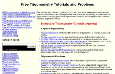 http://www.analyzemath.com/Trigonometry.html