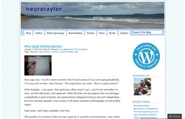 http://neurotaylor.com/2013/01/09/why-good-writing-matters/