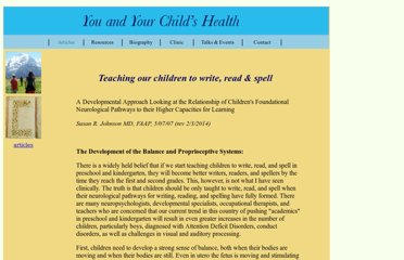 http://www.youandyourchildshealth.org/youandyourchildshealth/articles/teaching%20our%20children.html