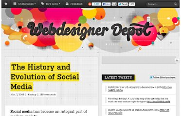http://www.webdesignerdepot.com/2009/10/the-history-and-evolution-of-social-media/