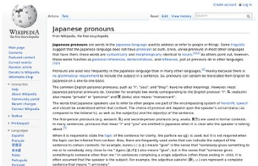 http://en.wikipedia.org/wiki/Japanese_pronouns