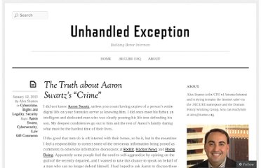 http://unhandled.com/2013/01/12/the-truth-about-aaron-swartzs-crime/