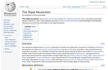 http://en.wikipedia.org/wiki/The_Triple_Revolution