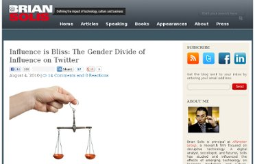 http://www.briansolis.com/2010/08/influence-is-bliss-the-gender-divide-of-influence-on-twitter/
